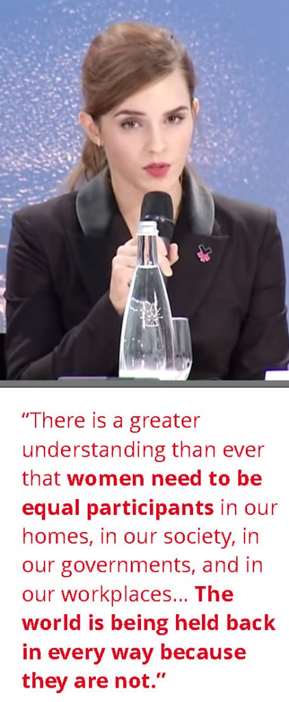 Emma Watson speaks at WEF