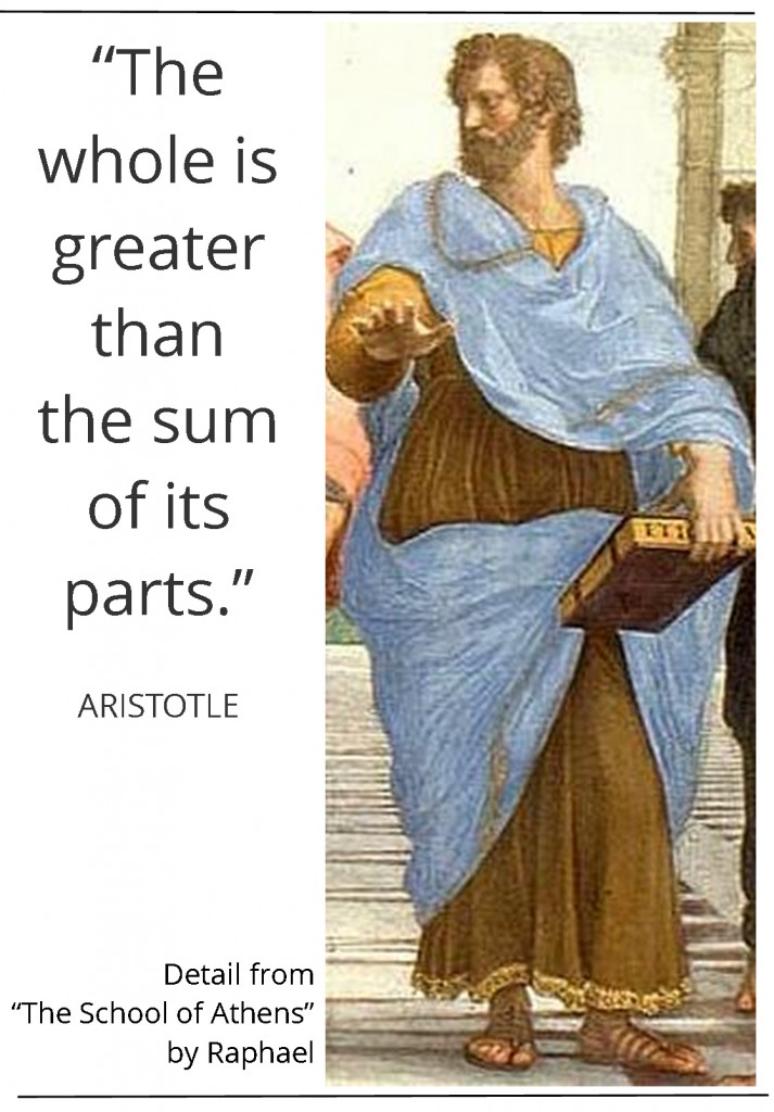 Raphael's painting of Aristotle